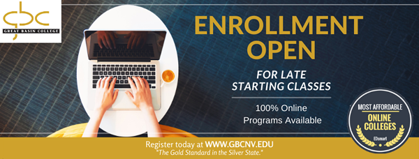 Open enrollment for late starting classes is beginning graphic.