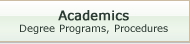 Academics link button.