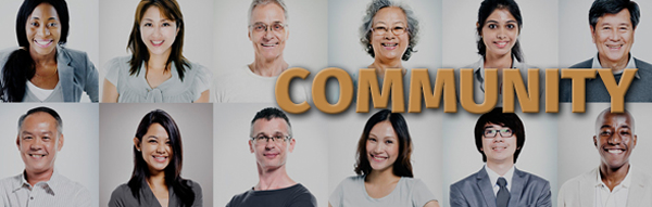 Community page title graphic