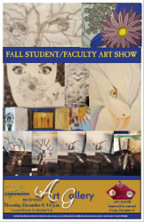 2016 Fall Student/Faculty Art Show.