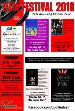 13th annual GBC Film Festival graphic.