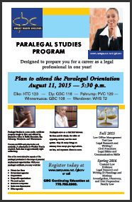 Paralegal Flyer graphic