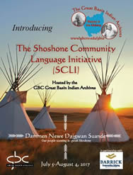 2017 Shoshone Community Language Initiative brochure cover