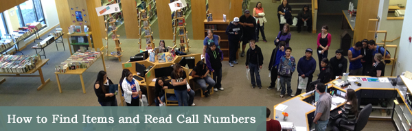 Reading Call Numbers page title graphic.